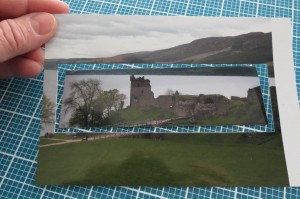 "Scrapping with Ease: Using Die Set D and a 4""x 5.5"" photo to trim to layered sized"