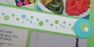 Baby Shower Scrapbook Ideas creating a border to match theme.