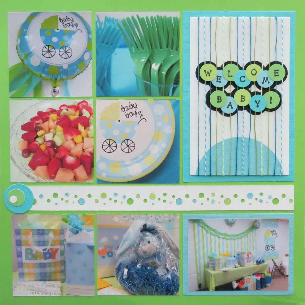 Baby Book Cover Page Ideas : Baby shower scrapbook ideas mosaic moments photo collage