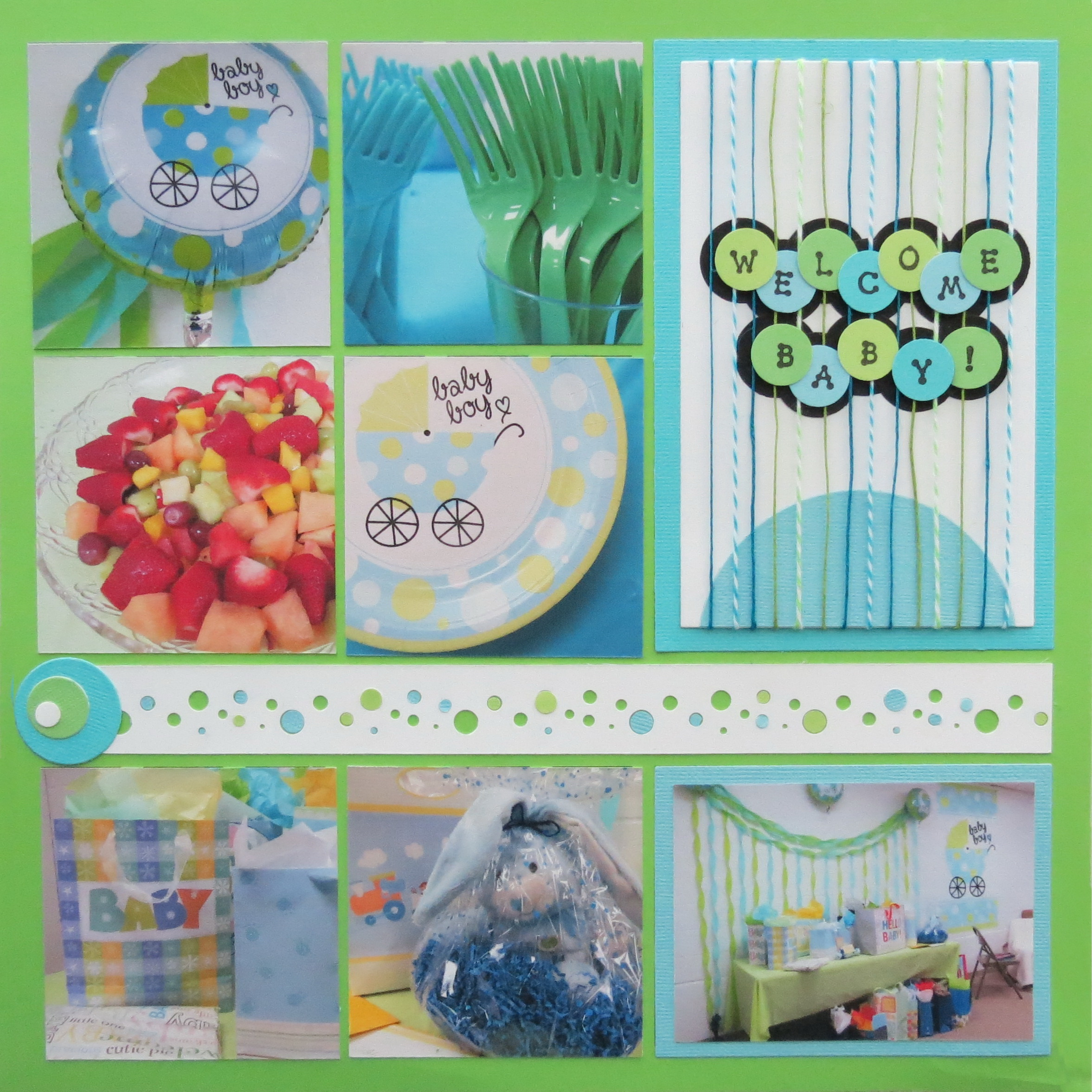 Baby Shower Scrapbook Ideas Mosaic Moments Photo Collage System