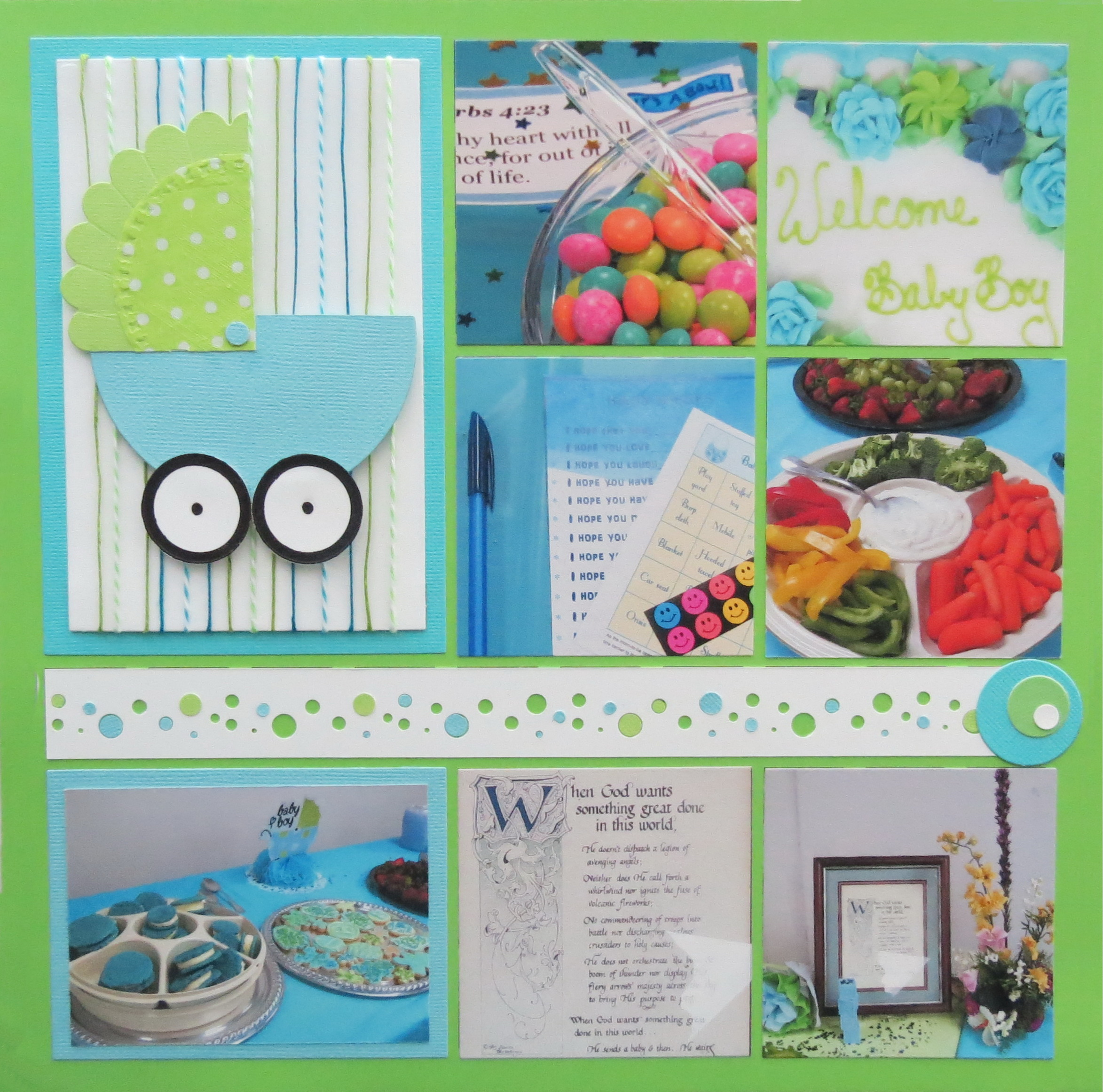 baby shower scrapbook pages