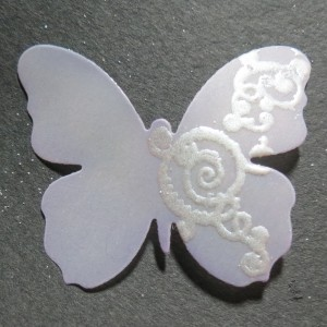 Butterflies & Balance chalked and embossed vellum butterfly