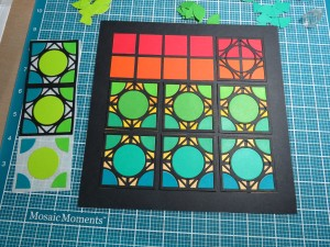Cornerstone Tiles: Encircle Die pattern in process