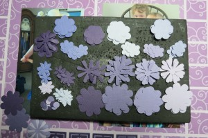 Dressing Up the Grid: Punched flowers