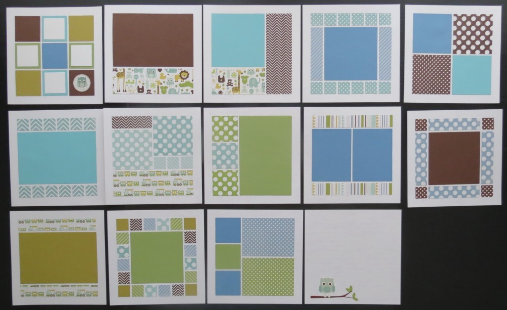 8x8 Page Designs using Mosaic Moments Die Sets