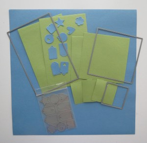 """8x8 Page Designs What you will get from each 12"""" x 12"""" paper using the dies."""