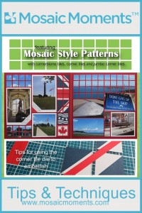 Mosaic Style Patterns, Nautical theme, Red White and Blue, vacation pages