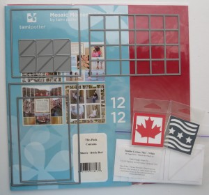 Mosaic Style Patterns supplies: grid paper, MM dies, cornerstones, jumbo tiles,