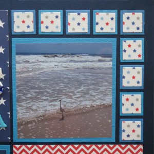 Patriotic Pages vellum stars and alternating tiles