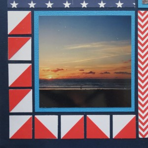 Patriotic Pages chevron pattern created with MM Corner Tile Die