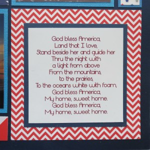 Patriotic Pages Font: Origin, lyrics mounted on navy on chevrons