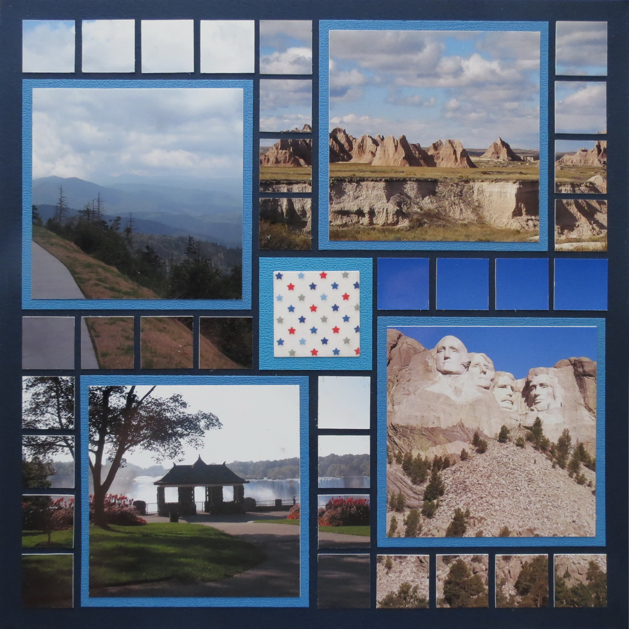 Scrapbook ideas niagara falls - Patriotic Pages Page Two Layout Pattern 233