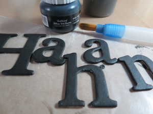 Creating Illusion chipboard letters painted with chalkboard paint