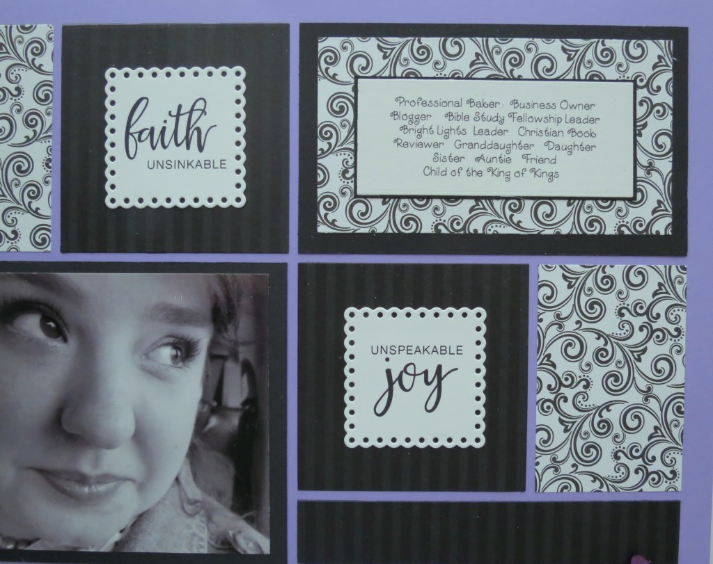 Creating Illusion Danielle Young's Project Faith journal cards trimmed with Mosaic Moments Scallop Dot Mat Die