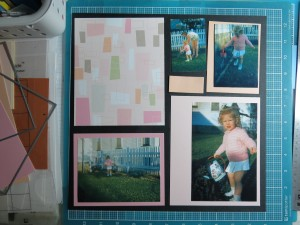 Scrapping Your Vintage Photos: The Fab 50's Choosing the paper/pattern combos v. 1