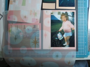 Scrapping Your Vintage Photos: The Fab 50's cardstock layered with vellum v. 2