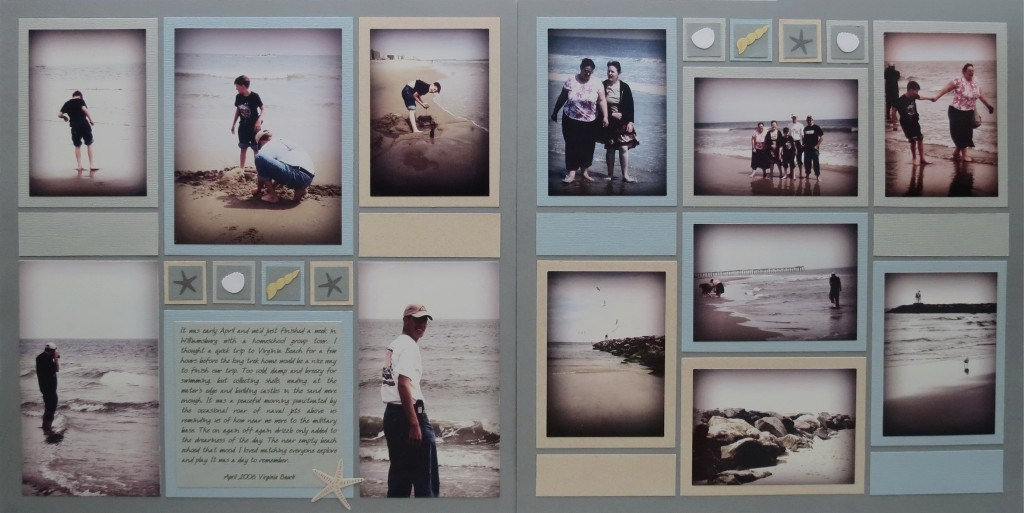 Summertime... and the Scrapping is Easy two page layout