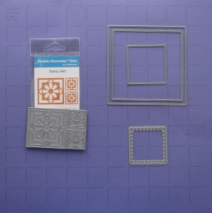 Scrapping Your Collections 12x12 Concord Grape Mosaic Moments Grid, Daisy Set Die, Die Set A, Scallop Dot Mat Die