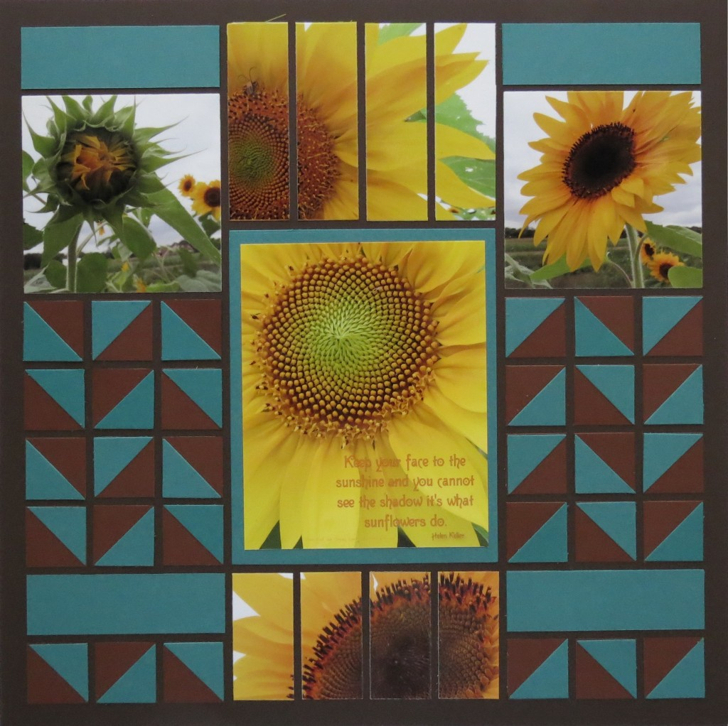 Sunflower and Mosaic Strips page two Pattern #238