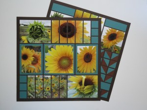 Sunflowers and Mosaic Strips