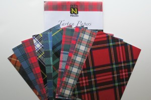 Vacation Albums tartan papers