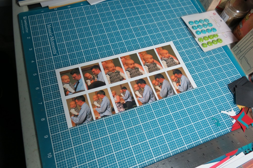 Mosaic Moments Filmstrip Die printing and prepping the photos