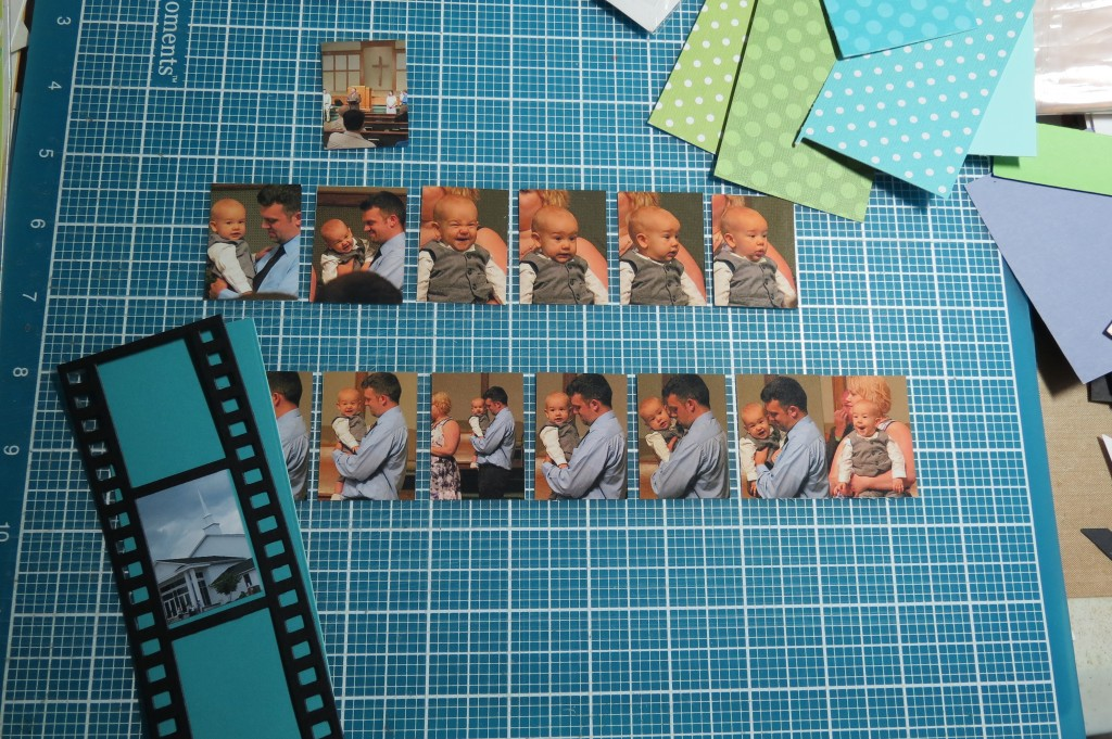 Mosaic Moments Filmstrip Die cutting to size