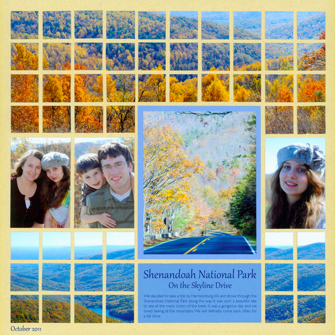 Fall Scrapbooking - landscapes