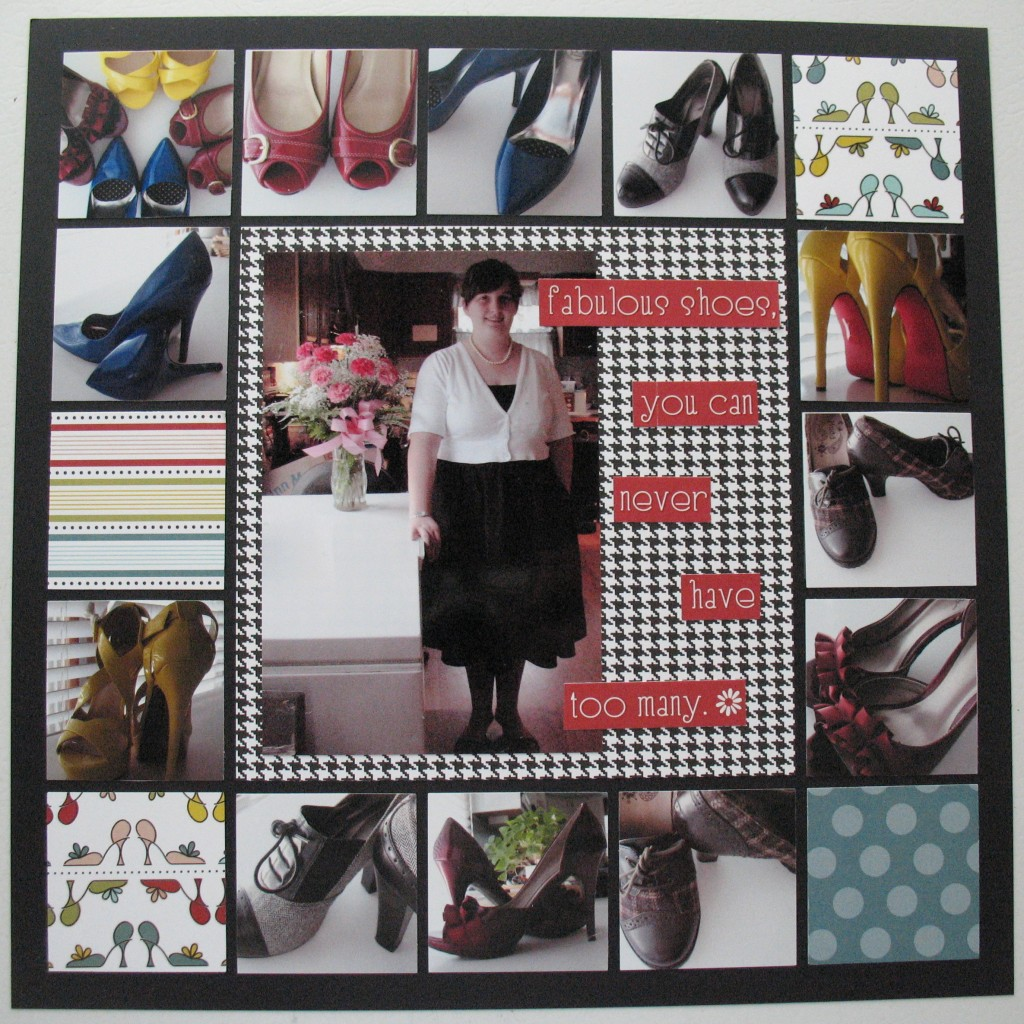 """Mosaic Moments Scrapping your Collections: """"fabulous shoes...you can never have too many"""""""