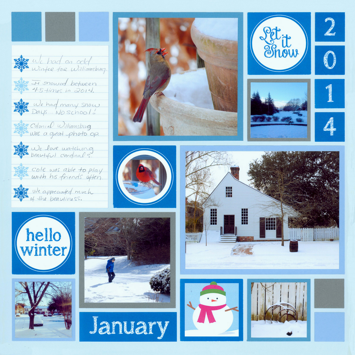 Scrapbook ideas many pictures - Scrapbook Layout Ideas Winter