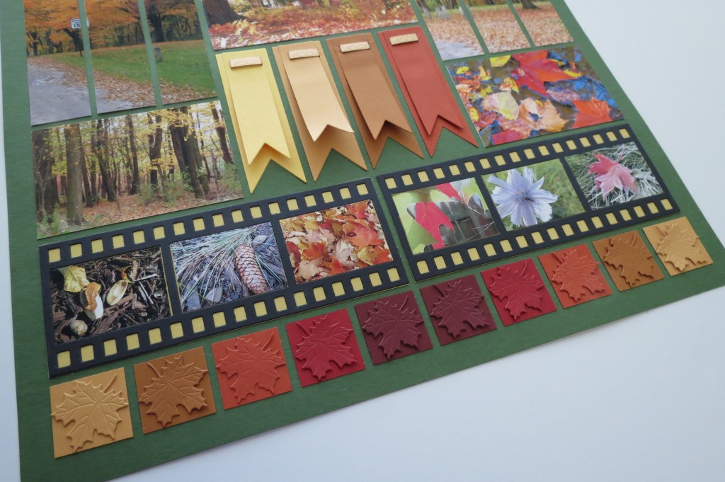 Pattern Alternatives Filmstrip die and tone on tone leaf border
