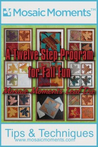 Mosaic Moments Leaf Die and 12 Techniques for adding fall fun to your scrapbook pages.