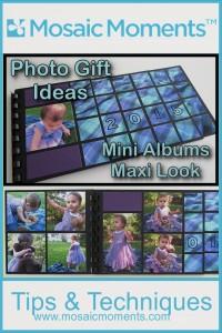 Mini Album Maxi Look this layered album with multiple mosaic style photos