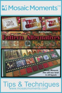 Pattern Alternatives utilizing the New Mosaic Moments Dies to freshen up your fall pages