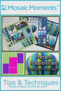 MM Pattern Possibilities showing one pattern three ways!