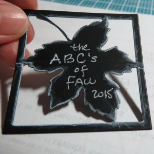 Fall Alphabet Scrapping by the Letters Cornerstone Leaf Die