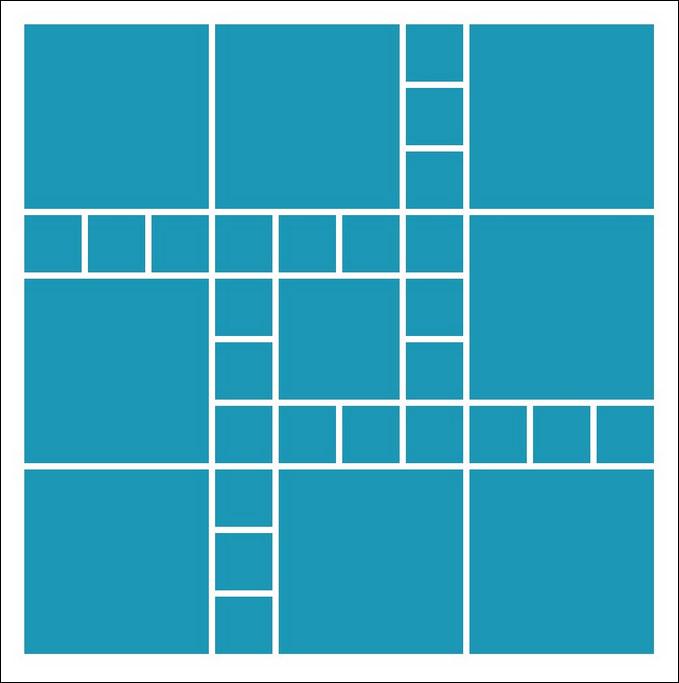 Scrapbook Layout Idea - The Square Pattern