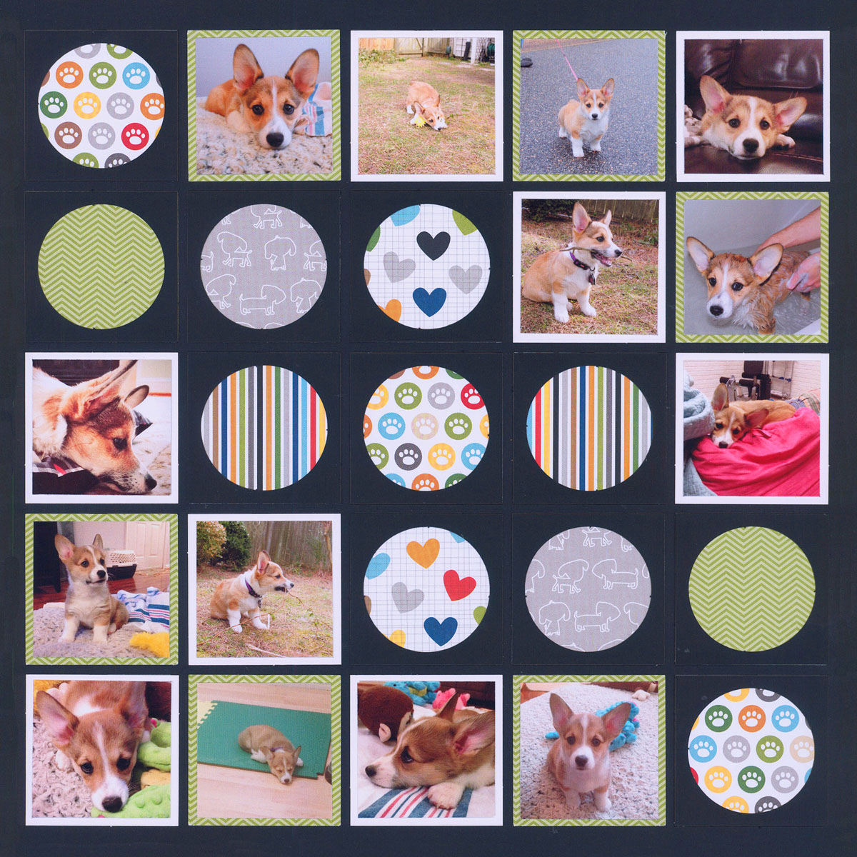 Scrapbook Layout Idea - Use Circle Tiles