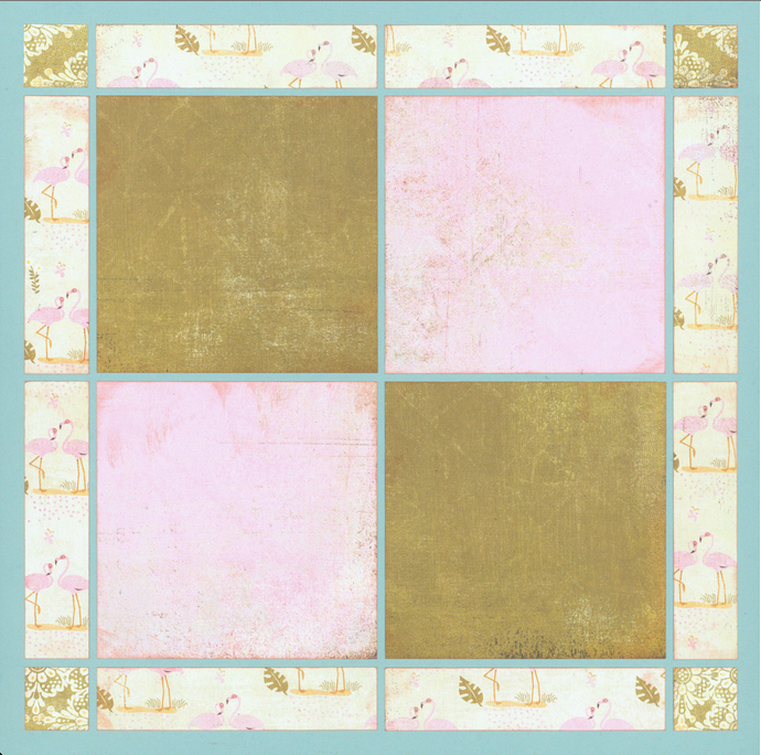 Scrapbook Layout Idea - Play with Patterned Paper
