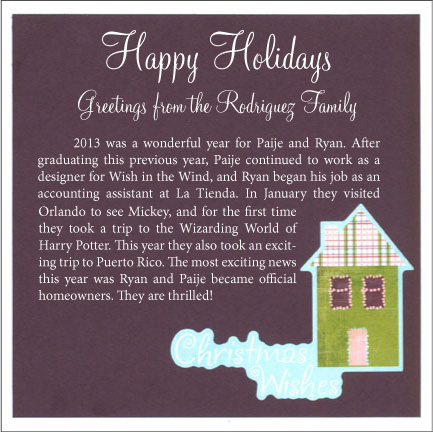 Holiday Card - The Back
