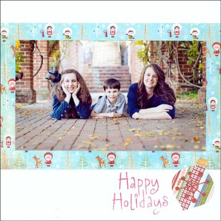 Holiday Card - Single Photo on Back