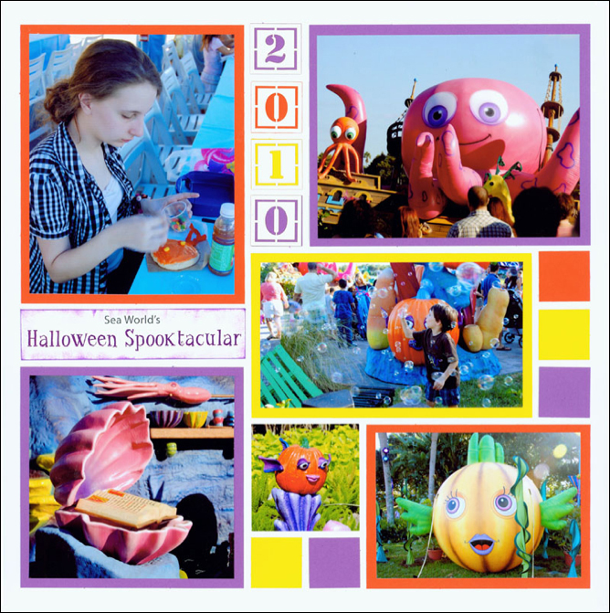 Halloween Scrapbook Pages - Bright and Colorful