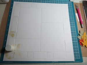 "Mosaic Moments White Grid Paper Creating your own ""Designer Paper"" step one."
