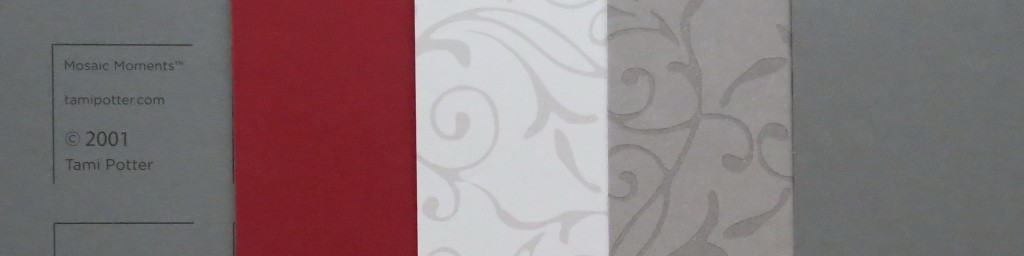 Diamond Ring Die Color Palette Pewter Gird and Paper Tiles, Ash Filigree double-sided cardstock