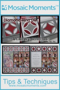 The Diamond Ring Die...these diamonds are a girl's best friend when it comes to designing wedding pages.
