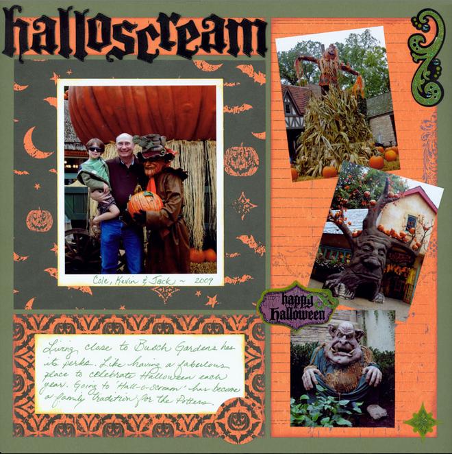 Halloween Scrapbook Pages - Pumpkin Jack