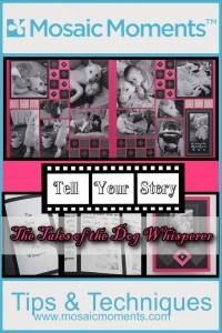 MM Tell Your Story ideas for creating scrapbook pages that tell a story and card to match