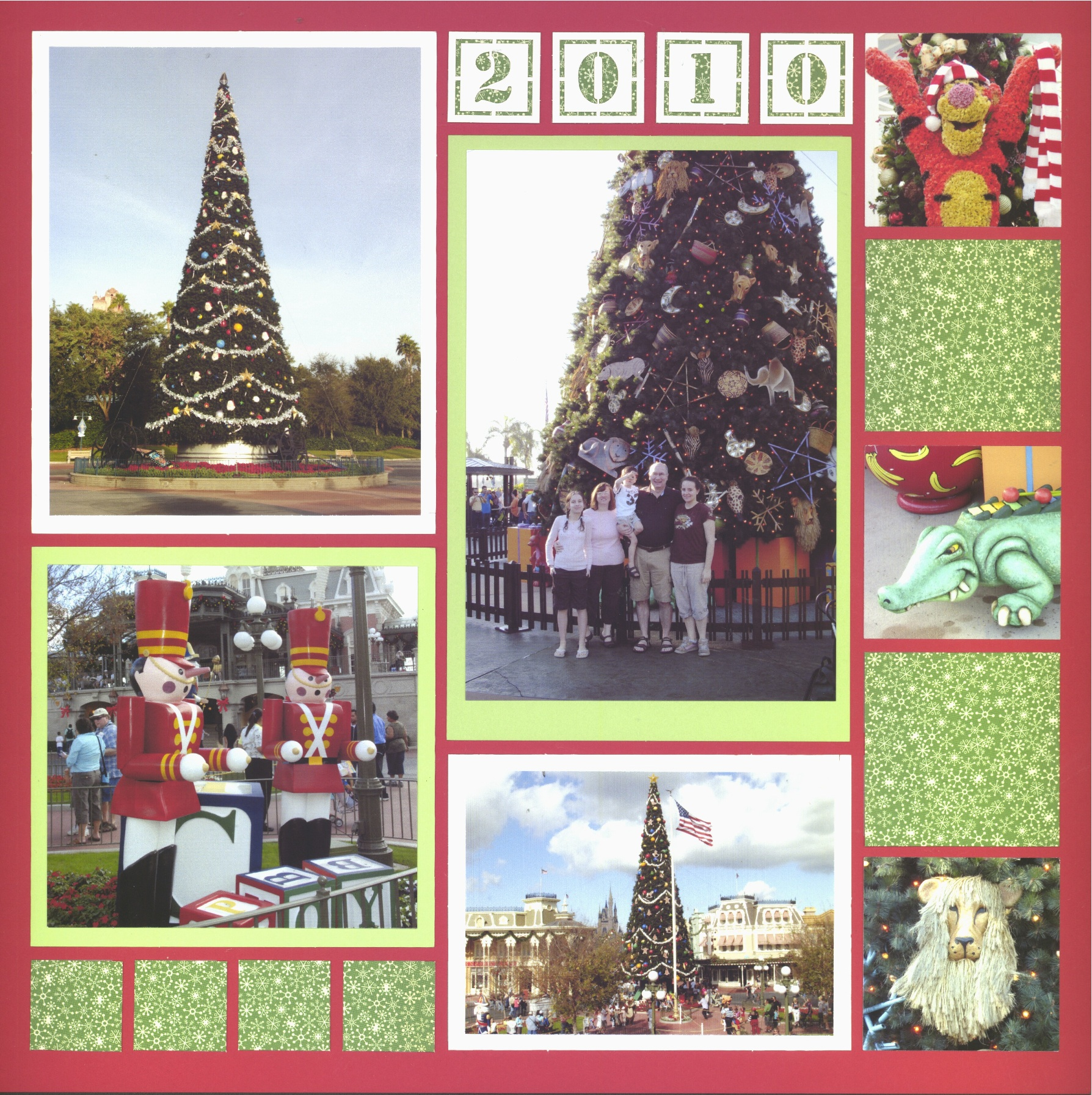Christmas around the Parks - Holiday Scrapbook layouts