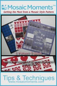 Mosaic Pattern Style featuring Carpenters Star Die, Heart Border Die and Snowflake Die Set