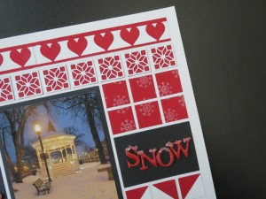 Mosaic Style Pattern Heart Border Die, Carpenters Star Die Chip board letters